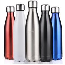 Cola Shape Vacuum Insulated Double Walled Stainless Steel Thermos Cup