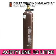1 SET : ACETYLENE REGULATOR + 10 LITRE ACETYLENE GAS