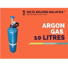 1 SET : ARGON REGULATOR + 10 LITRE ARGON GAS MALAYSIA WELDING