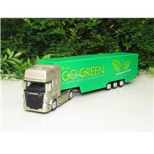 Welly 1/87 SCANIA V8 R730 Trucks Trailer (Go Green)
