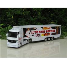 Welly 1/87 Mercedes-Benz Trucks Trailer (Auto Cars Service)