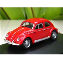 High Speed 1/87 Diecast Car Classic VW Volkswagen Kafer Beetle(RED)5cm