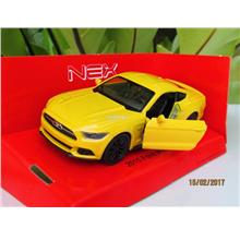 Welly 1/34-1/39 Diecast Car 2015 Ford Mustang GT (Yellow)