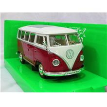 Welly 1/24 Diecast Car Volkswagen VW T1 Kombi Bus 1963 (RED) Combi