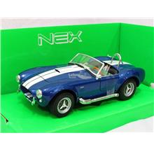 Welly 1/24 Diecast Car Shelby Cobra 427 SC Convertible Car 1965 (BLUE)