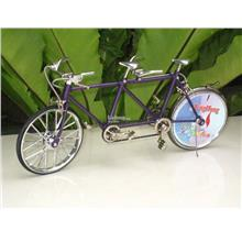 Novelty Table Lighter Bicycle Shape Columbia Twosome (Purple)