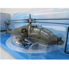 New Ray 1/55 Diecast Helicopter 2008 AH 64 Apache U.S. Army Green