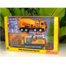 LB Construction Playset CONCRETE MIXER TRUCK & TRACTOR HAMMER