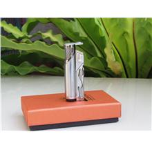 Jobon ZB637 Torch Cigarette Lighter Butane Gas Cigar/Opener (Silver)