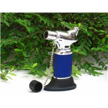 Jobon Lighter ZB821 Table Top Jet Torch Cigar Gas Lighter(Blue/Silver)