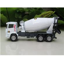 HY Truck 1/60 Diecast Concrete Mixer Construction Vehicle White (14cm)