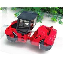 HY Truck 1/25 Diecast Double Drum Roller Construction Vehicle Red