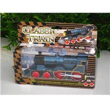 5.5' Diecast Metal Classic Train W/Sound & Light & Pull Back Action BL