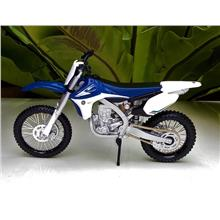 Maisto 1/12 Diecast Motorcycle Yamaha YZ450F Dirt Bike Blue