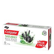 COLGATE Naturals Pure Clean Charcoal Mint 2 x 120g)