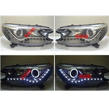 Honda CRV '13 Projector LED Head Lamp DRL R8 [Black Housing]