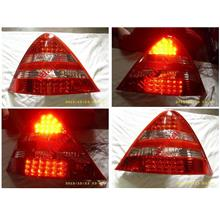 DEPO Mercedes SLK '96-02 R170 LED Tail Lamp [Red/Clear]