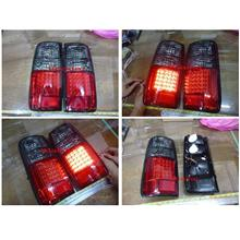 Toyota '90-94 Landcruiser FJ80 / FJ82 Tail Lamp Crystal LED Smoke-Red