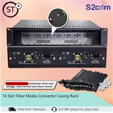 14 Slot Fiber Media Converter Casing Rack (S015)