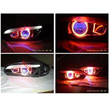 Proton WIRA SATRIA LED Eye Brown Projector Head Lamp + Red CCFL Ring
