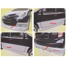 Perodua Myvi '11 1.3 Aerotech Style Full Set Skirting + Door Panel
