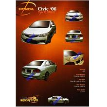 Honda Civic FD '06 Type-R Full Set Body Kit [PP & PU Material]