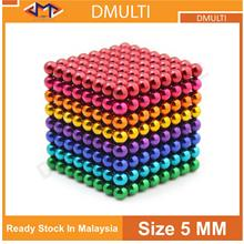 512pcs 5mm Electroplating Bucky Balls Magnetic Stress Relief Balls [8 COLOUR]