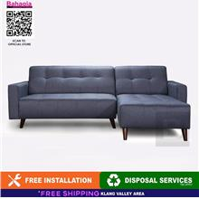 BAHAGIA MODERN BLUE GREY COLOR 2 SEATER + L-SHAPE SOFA