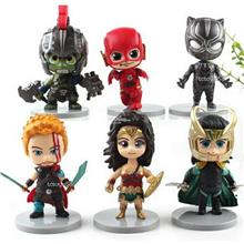 Q VERSION SUPERHERO AVENGERS FIGURES BLACK PANTHER THOR RAGNAROK TOYS