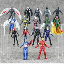 AVENGERS SUPERHERO CIVIL WAR MINI FIGURES IRONMAN BLACK PANTHER TOY