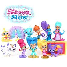 Shimmer and Shines Figure Shimmer Toy Figurine / Cake Topper 12pc Set
