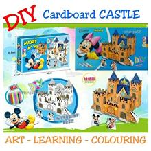 DIY CARDBOARD CASTLE DISNEY MICKEY MINNIE 3D CASTLE CARDBOARD JIGSAW