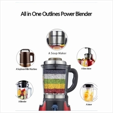 MMX Outlines Multi-functional Power Blender + Soup Maker Red (Malaysia Plug)