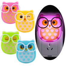 LED Energy Saving Owl Night Light Children Kids Baby