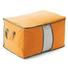 Bamboo Charcoal Non Wooven Quilt Blanket Storage Bag (Wide Orange)
