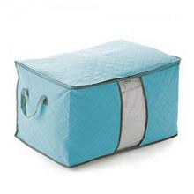 Bamboo Charcoal Non Wooven Quilt Blanket Storage Bag (Wide Blue)