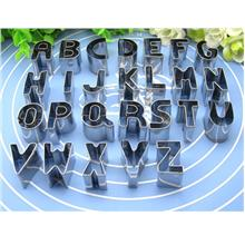 26 Pcs Alphabet Cookies Mould