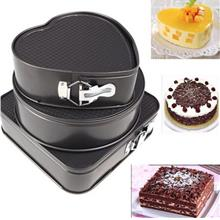 3 in 1 Round Heart Square Shape Cake Mould