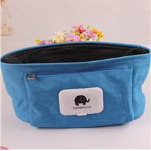 Baby Stroller Organizer Hanging Bag Big Capacity (Blue)