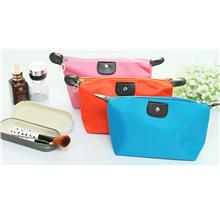 Small Foldable Dumpling Cosmetic Pouch Organizer Bag