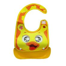 Waterproof Cartoon Pattern Baby Bibs Feeding Bibs- Yellow