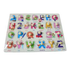 Educational Learning Wood Puzzle- Letter With Words