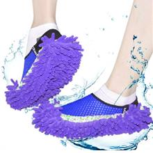 Practical Chenille Mop Slippers Dust Floor Cleaning Mopping Foot Shoes..