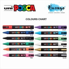 Uni Posca Water-Based Poster Colour Bullet Medium Tip Paint Marker PC-
