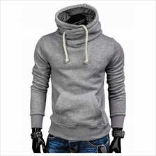 Whole Colored Drawstring Casual Hoodie (LIGHT GRAY)