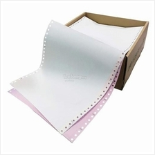 "Computer Form 9.5"" x 11"" 2 Ply NCR 500 Fans - White/Pink (C01-15)"
