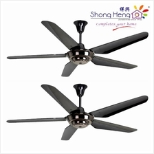 Rubine PICCO201 Remote Ceiling Fan 5Blade Gun Metal Color 2 Set