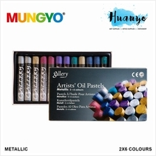 Mungyo Gallery Artists' Oil Pastel Metallic 2 x 6 Colours