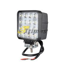 48W 16 LED Square Work Lamp Off-Road Flood Sport Light Boat Tractor Truck