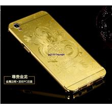 Oppo A37 Metal Frame 3D Laser PC Back Cover Case Casing+Tempered Glass